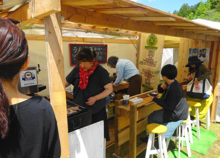 笠間陶炎祭 の飲食ブース1