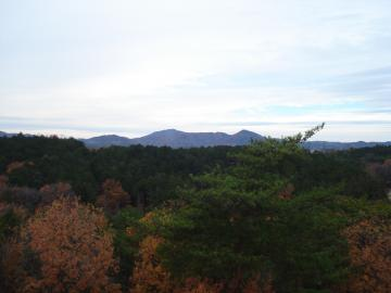 ロングすべり台の頂上からの眺め