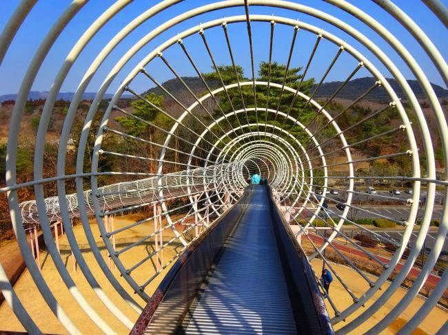 笠間芸術の森公園 ロングすべり台のスタート地点