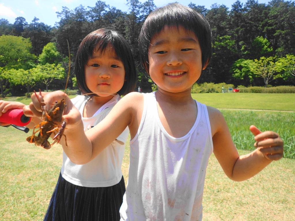笠間芸術の森公園 川遊びをする子供