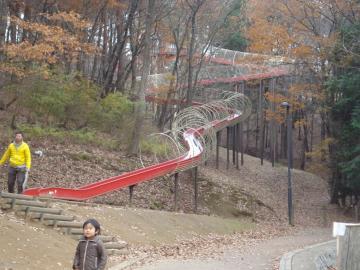 笠間芸術の森公園 巨大なローラーすべり台を発見