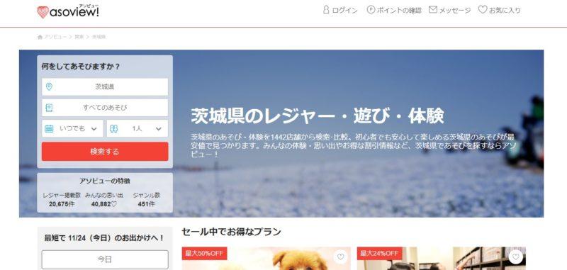 遊び場を探すならアソビューが便利?茨城の遊びスポットもたくさん!