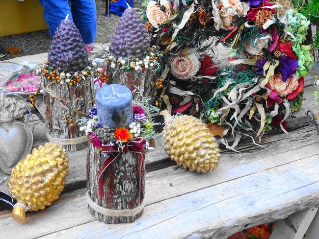 マルシェドノエル水戸 水戸市の花屋グリーンスポットの手作りクリスマスグッズ