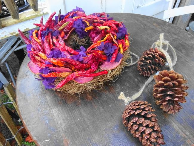 マルシェドノエル水戸 水戸市の花屋グリーンスポットの手作りリース