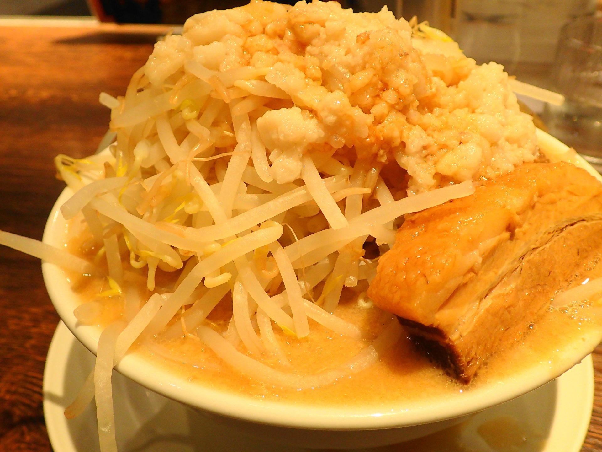 つけめんTETSU壱の木戸で二郎系!? 限定の「豚と脂」を実食 - いばらじお♪