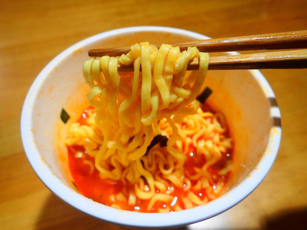 辛激タンメンの麺