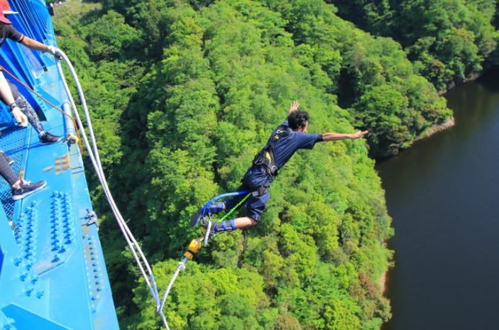 茨城が日本一!竜神大吊橋でバンジージャンプ初体験 - いばらじお♪