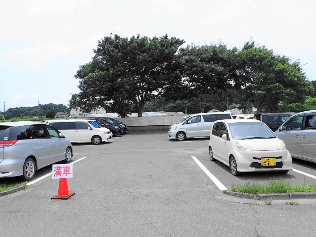 涸沼 プール の駐車場