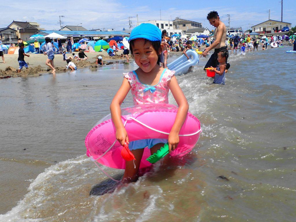 平磯海水浴場は波が穏やか