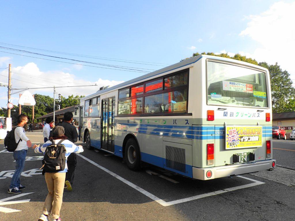シャトルバスでロープウェイ乗り場へ