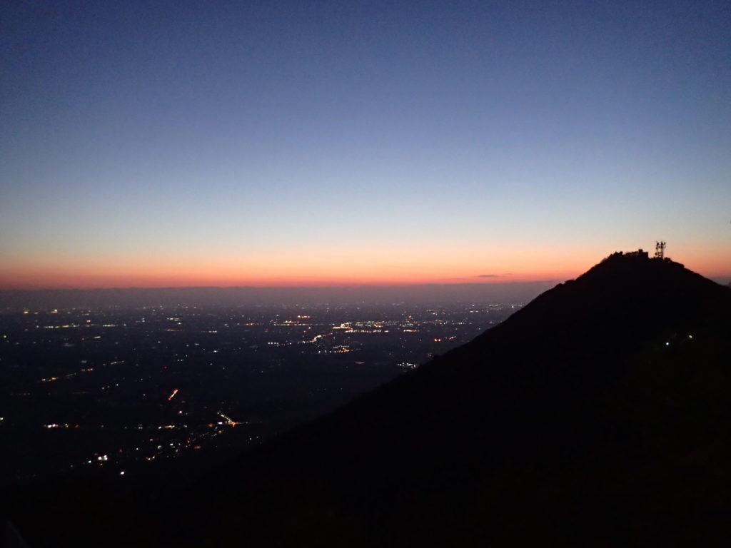 筑波山の山頂から見る夜景