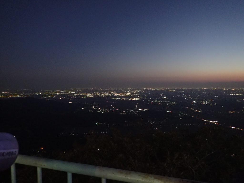 筑波山山頂からの夜景(東京方面)