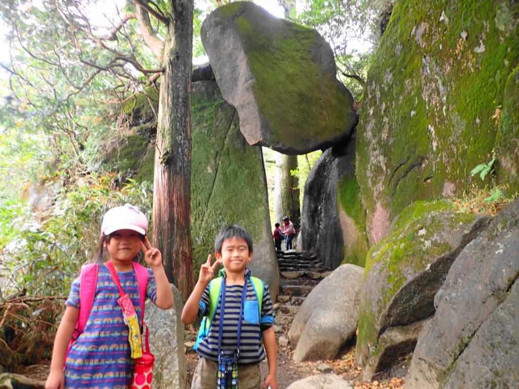 筑波山 子ども登山 弁慶七戻りの奇岩