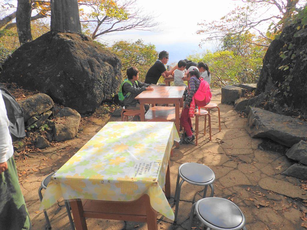 筑波山 子ども登山 眺めの良いテーブル席