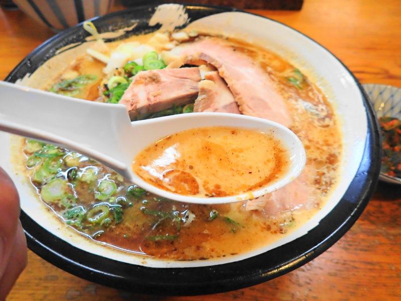 渡来人 味噌ラーメンのスープ