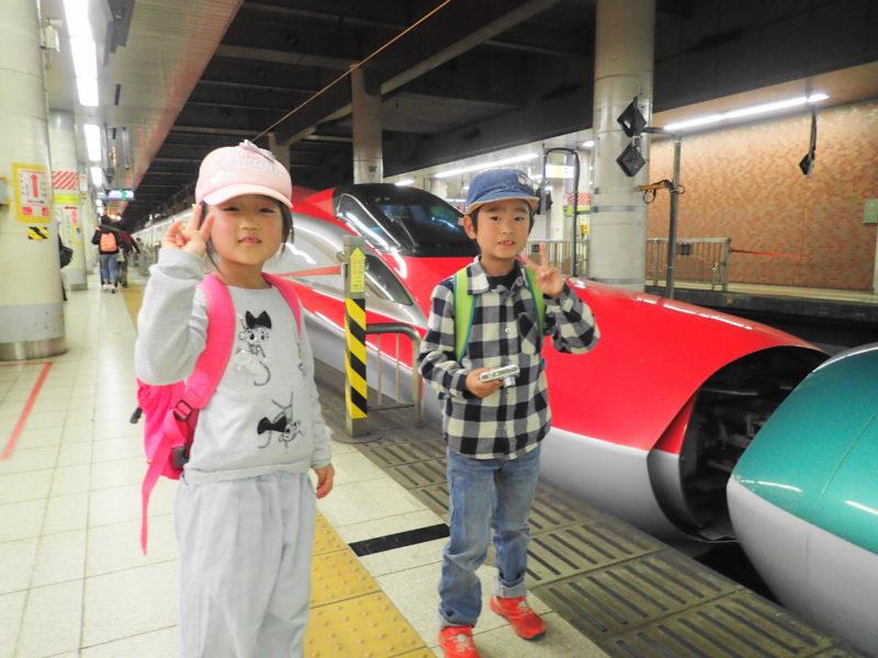 上野駅で子どもと新幹線を見学