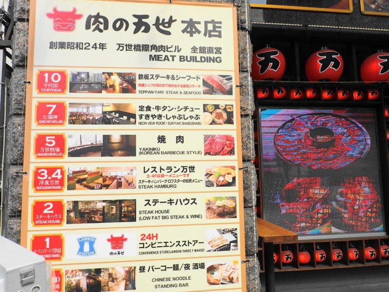 肉の万世本店 電車 フロアガイド