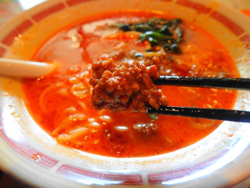 バーミヤンの担担麺 肉味噌
