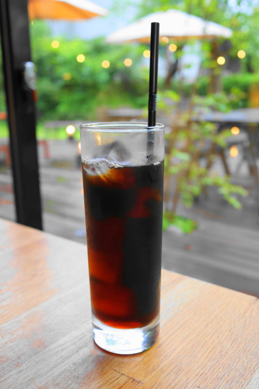 咲くカフェ 大子 のアイスコーヒー