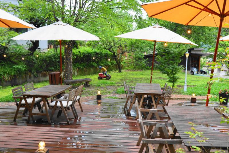 咲くカフェ 大子 のテラス席