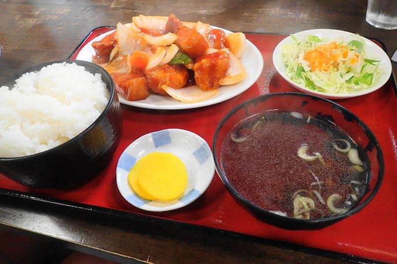光彩 水戸 の酢豚定食