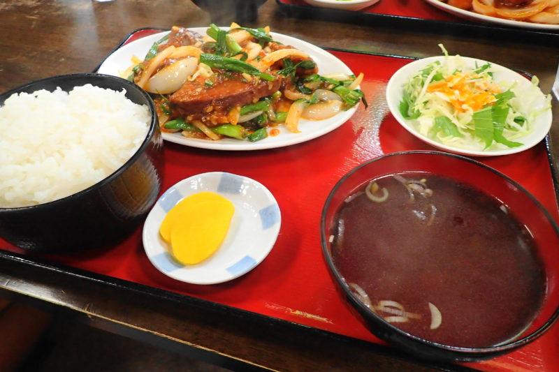光彩 水戸 のレバー炒め定食