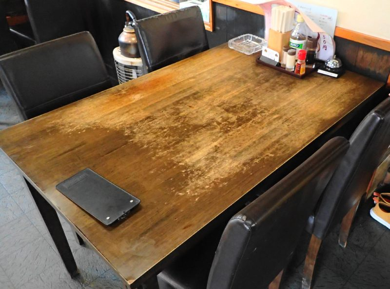 光彩 水戸 のテーブル席