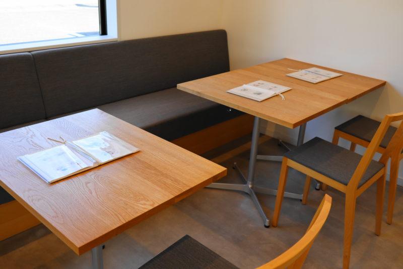 笠間 ふる川製菓 のカフェスペース