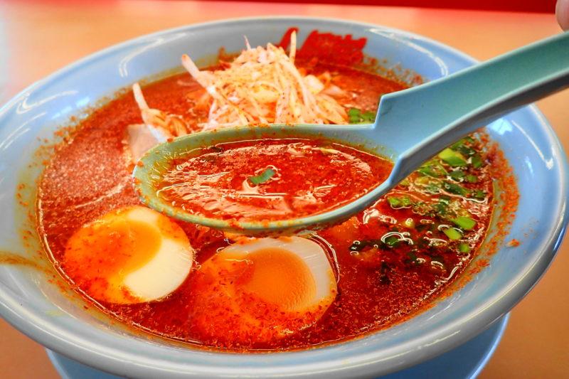 山岡家 地獄のウルトラ激辛ラーメン のスープ