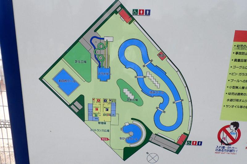 水郷プールの施設図