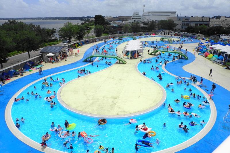 水郷プール の流水プール