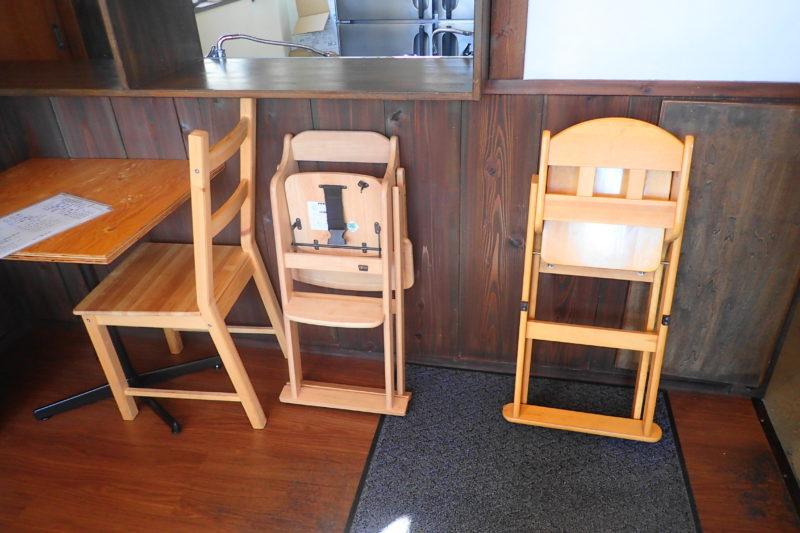 うどん製麺みきや 子供用の椅子