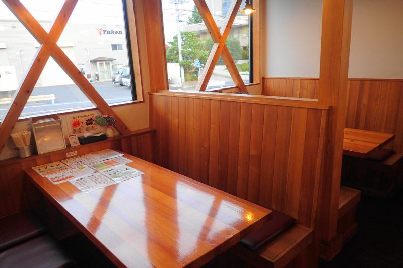 のしめ 日立 のテーブル席