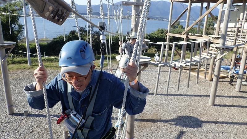 琵琶湖アスレチック の体験写真3