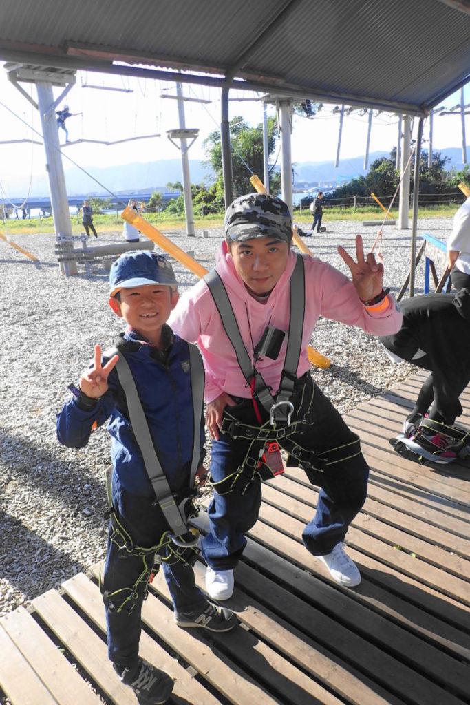 琵琶湖アスレチック の体験スタンバイOK