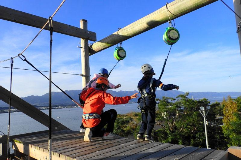 琵琶湖アスレチック の飛祭