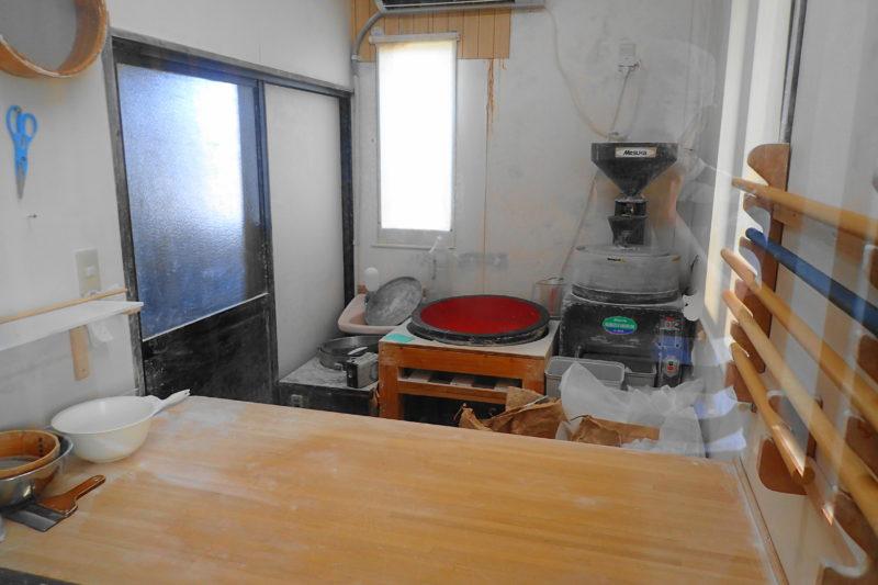 だぼう の蕎麦打ち部屋