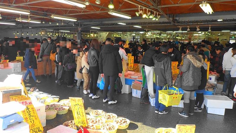 那珂湊おさかな市場年末年始 混雑の様子